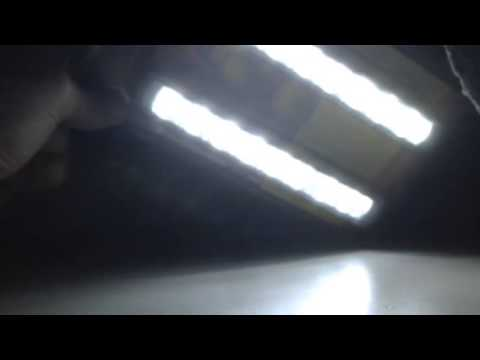 Luci led diurne con frecce arancio - YouTube