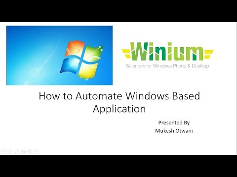 How to Automate Windows Based Application using Winium and
