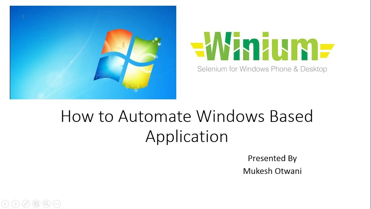 How to Automate Windows Based Application using Winium and Selenium