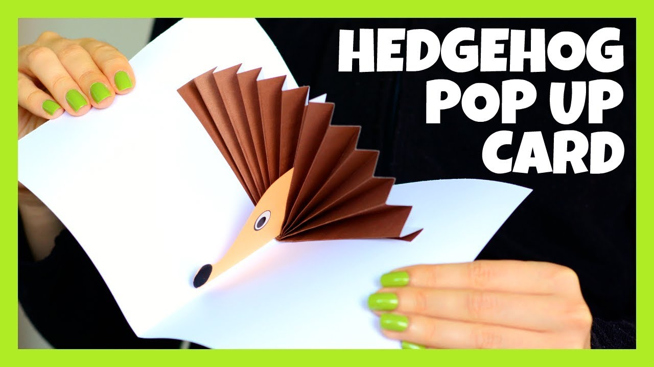hedgehog pop up paper craft hedgehog pop up card paper craft for fall craft 6705