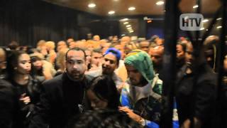 Chris Brown Slips Through Crowds Outside Supperclub.