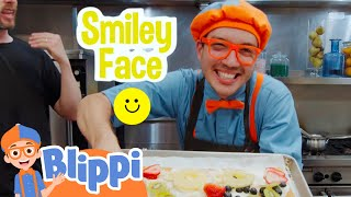 Blippi Makes Fruit Pizza! | Learn Sign Language With Blippi | Educational Videos For Kids