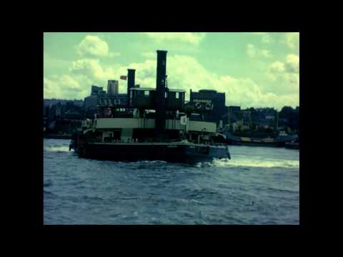East London Docks And The Woolwich Ferry Crossing The Thames 1961
