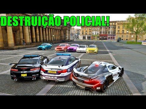 LEITE QUENTE BÊBADO NO DESTRUIÇÃO POLICIAL - FORZA HORIZON 4 - GAMEPLAY