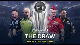 THE DRAW! Full draw for the 2020/21 William Hill World Darts Championship