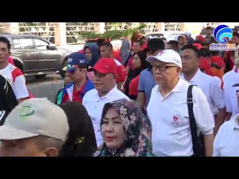Plt. Bupati Lamsel Nanang Ermanto Lepas Ribuan Peserta Jalan Sehat Haornas 2018