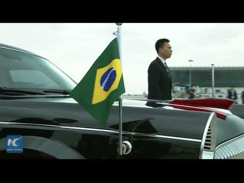 Brazilian president arrives in China's Xiamen for BRICS summit