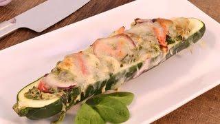 Chicken Pesto Zucchini Pizza - Zucchini Recipe | RadaCutlery.com