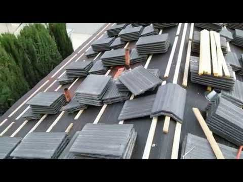 HOW TO VIDEO : Installing FLAT TILE ROOF with wood battens, very insteresting. watch!