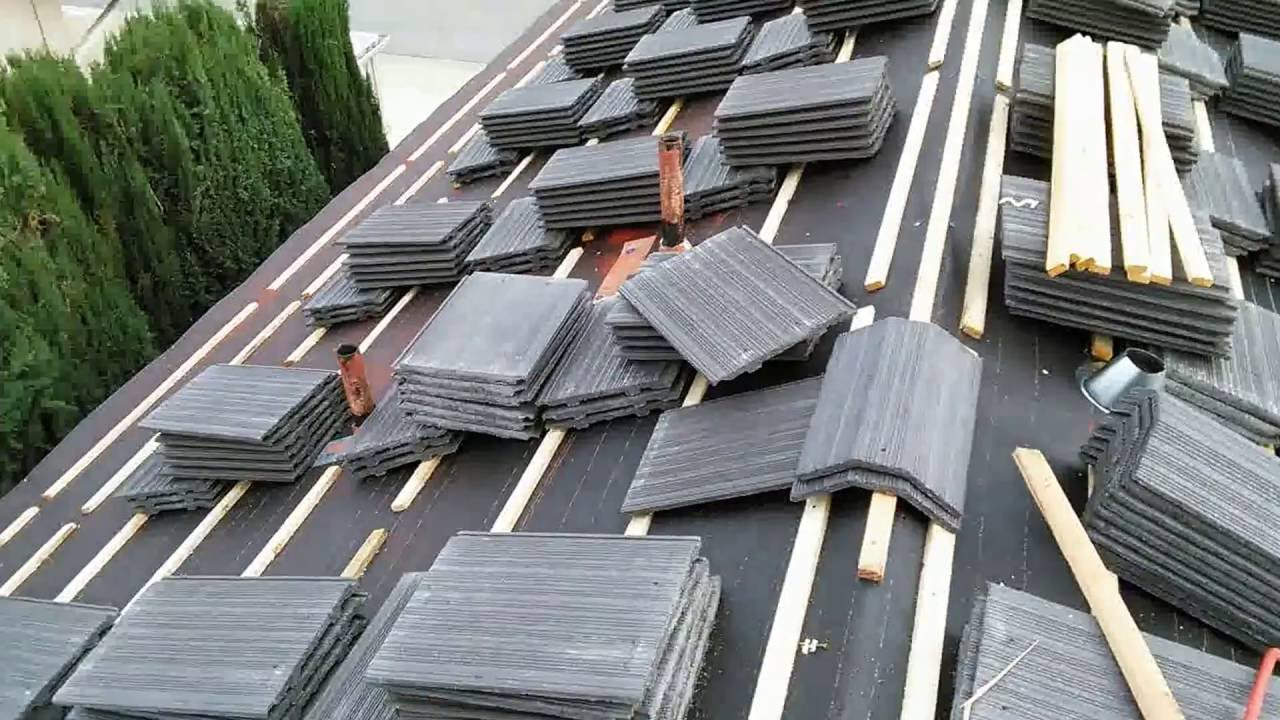 how to video installing flat tile roof with wood battens very insteresting watch