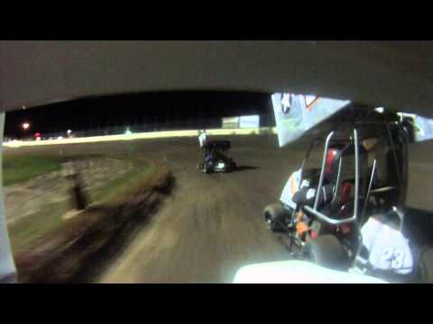 English Creek Speedway 7 25 14 Adult Wing Feature crash