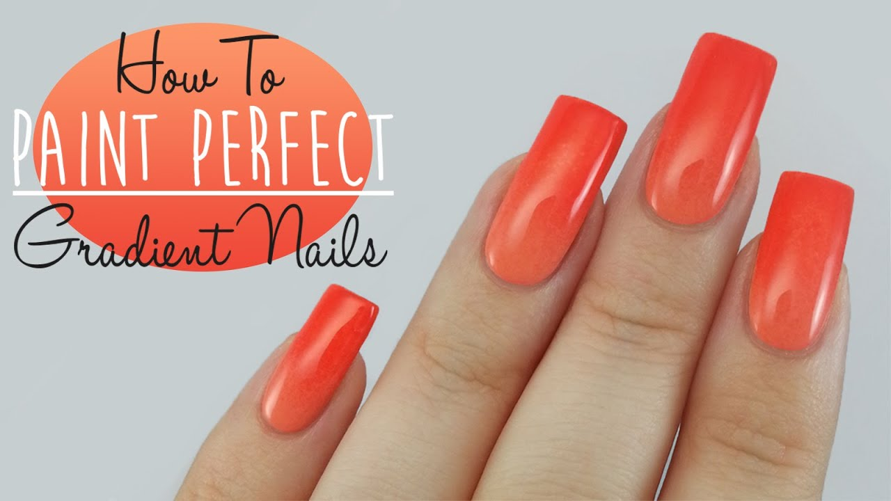 How To Get The Perfect Nail Gradient Tutorial - YouTube