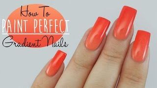 how to get the perfect nail gradient tutorial