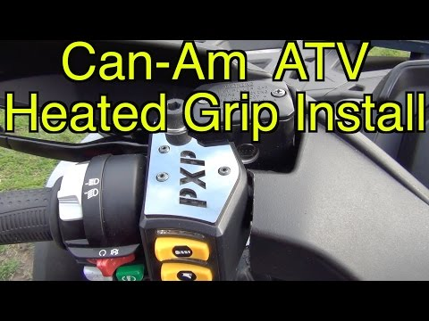 Can Am BRP ATV Heated Grip Install   - Sept 22 2016