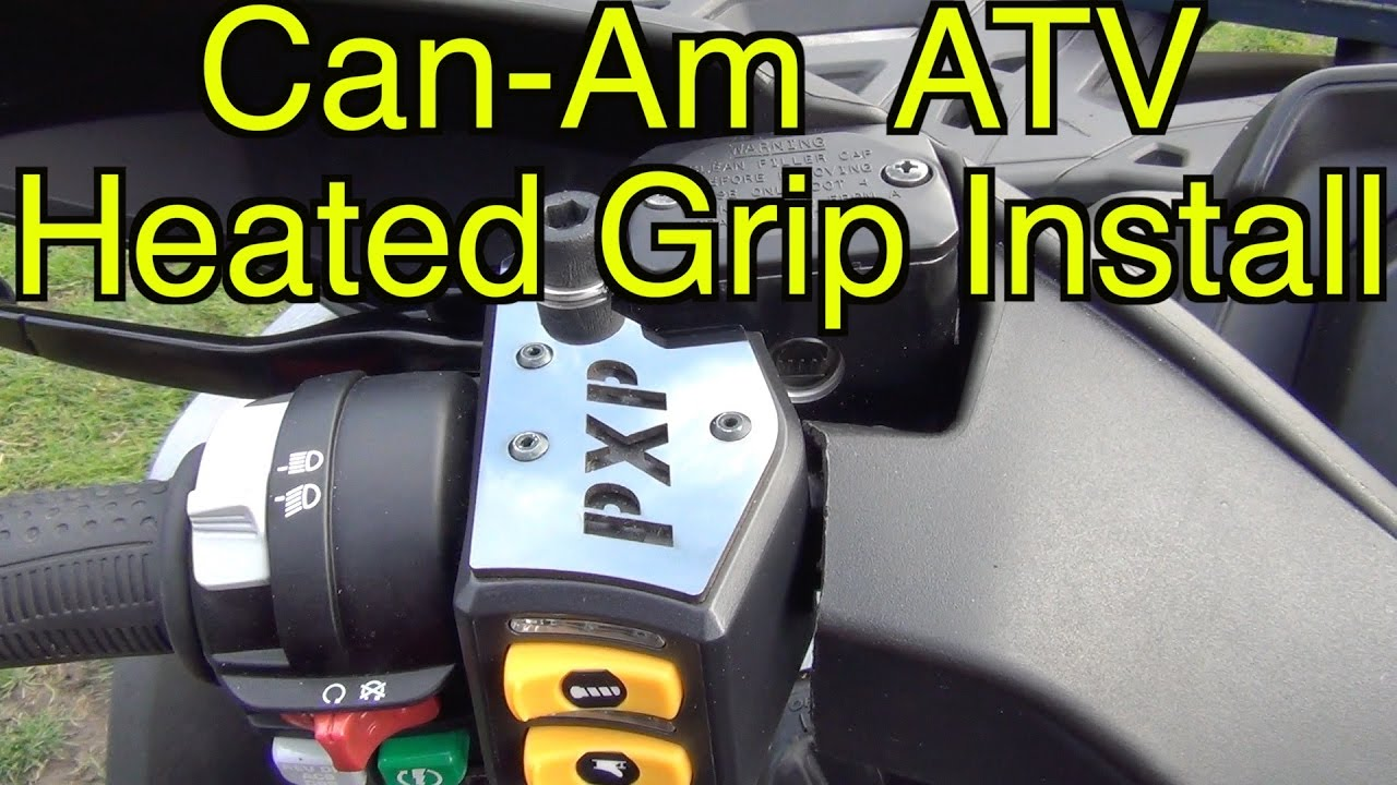 can am brp atv heated grip install sept 22 2016 youtube. Black Bedroom Furniture Sets. Home Design Ideas