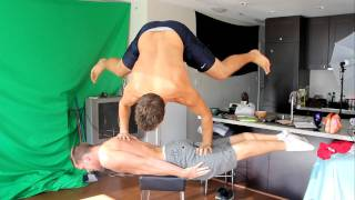 Handstand on a Plank to Double Bro Plank With Dancing