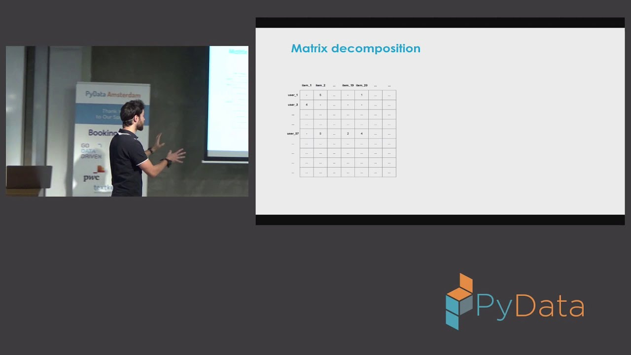 Hands on - Build a Recommender system: Camille Couturier   PyData Amsterdam  2019