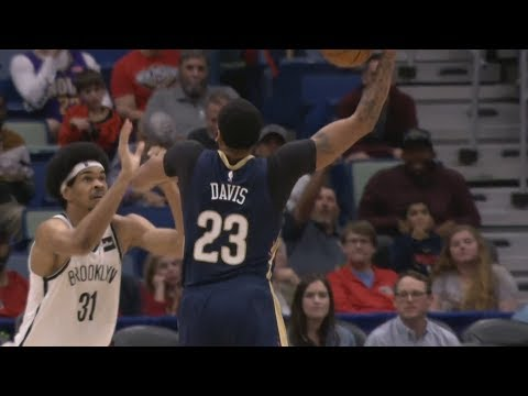 Anthony Davis Mean Poster! Holiday Game Winner vs Nets! 2018-19 NBA Season