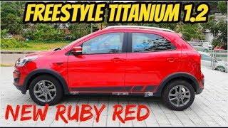 2018 FORD FREESTYLE TITANIUM 1.2 Ti-VCT Review I RUBY RED I Features & Specifications