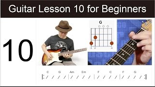 Guitar Lesson 10 for Beginners - Canon in C