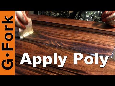 Apply Polyurethane Wood Finish How To - GardenFork