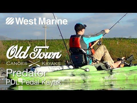 Old Town Predator Pedal Drive Angler Kayak - West Marine Quick Look