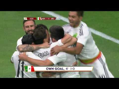 OWN-GOAL for Mexico, Álvaro Pereira No. 6     @miseleccionMX v @Uruguay #CopaAmerica