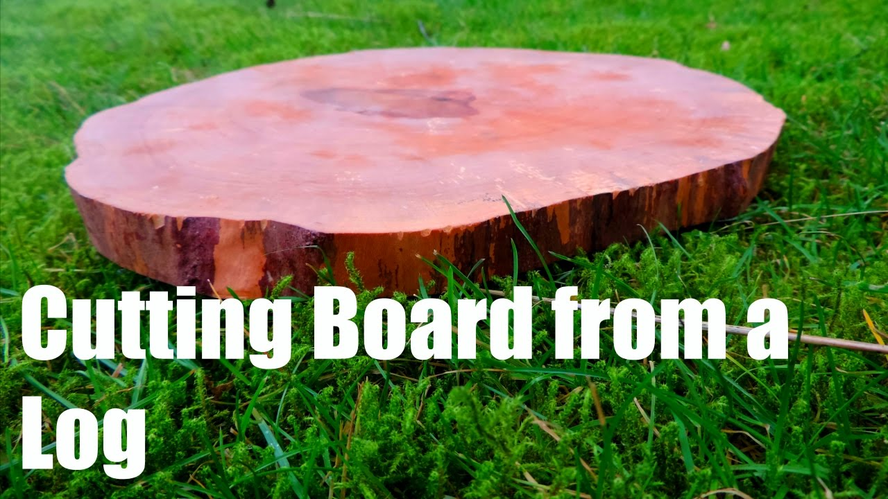 Cutting A Log : Endgrain cutting board from a log youtube