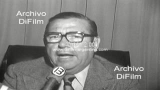 Alberto Armando construccion estadio de Boca en la Ciudad Deportiva 1971