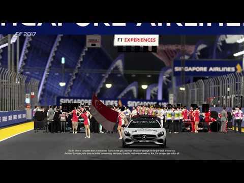 F1 2017 Game - Lewis HAMILTON - Singapore Grand Prix HD
