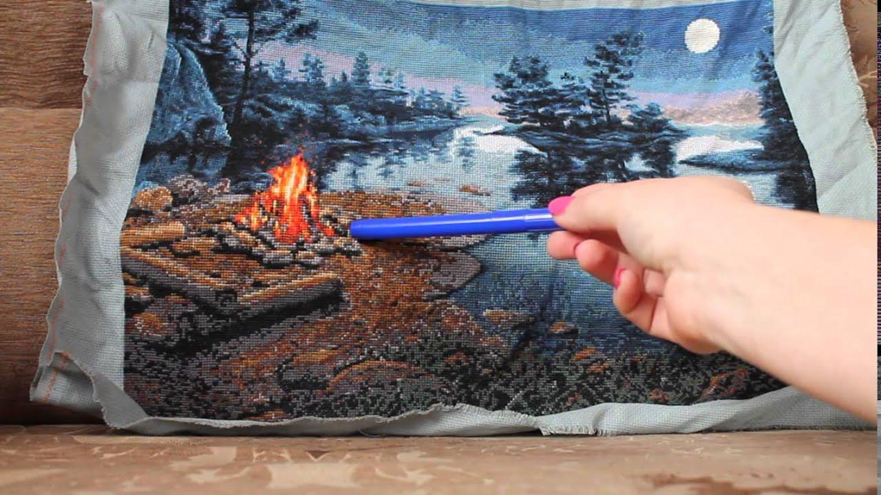 Огонь вышивка крестиком