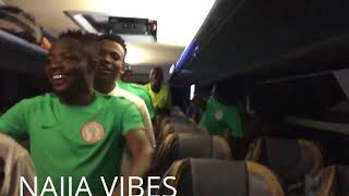 Watch Nigerian Super Eagles dance and party after Monday's match against Cameroon