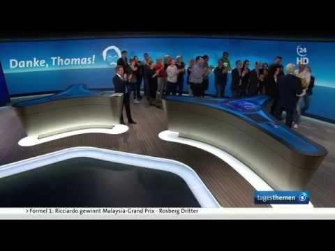 Tagesthemen - Verabschiedung von Thomas Roth (02.10.2016)