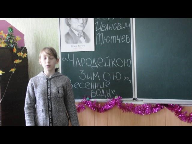 Изображение предпросмотра прочтения – АлександраФедулова читает произведение «Чародейкою Зимою…» Ф.И.Тютчева