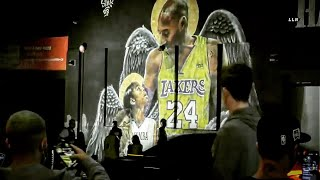 FOR KOBE! LAKERS FANS GO WILD | LOS ANGELES CA