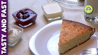 COTTAGE CHEESE CAKE RECIPE. Cottage Cheese Cake with Lemon