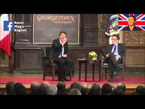 Renzi parla inglese alla Georgetown University