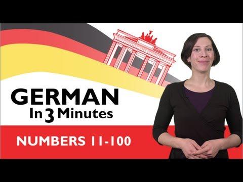 Learn German - German in Three Minutes - Numbers 11-100