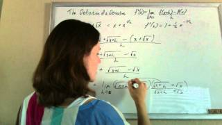 definition of a derivative example square root