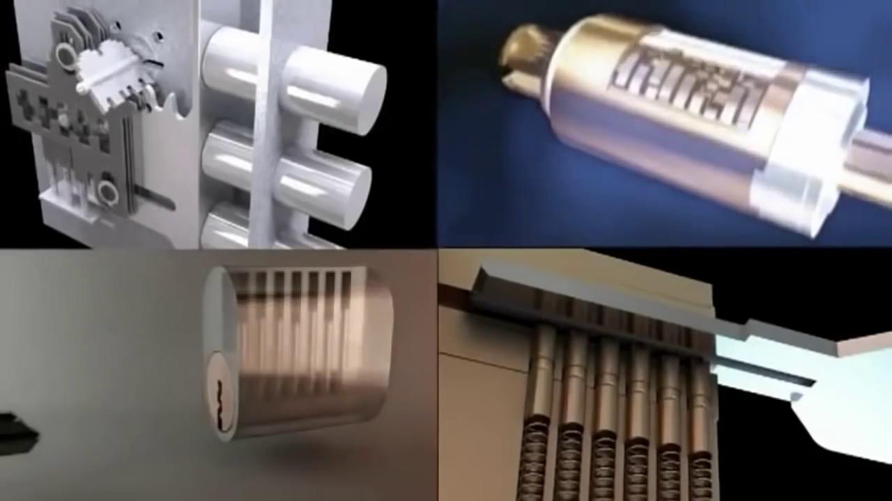 Врезка замка в металлическую дверь - YouTube