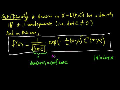 (PP 6.4) Density for a multivariate Gaussian - definition and intuition