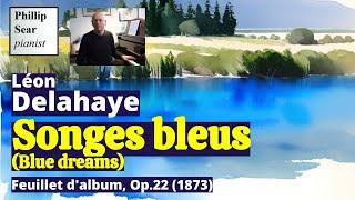 Léon Delahaye : Songes Bleus - Feuillet d
