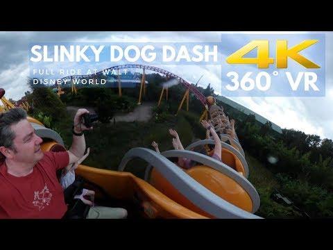 Slinky Dog Dash 4K 360° VR ON RIDE POV Toy Story Land Disney's Hollywood Studios