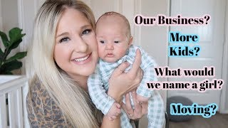 GET READY WITH ME... AND A NEWBORN | ANSWERING YOUR PERSONAL QUESTIONS!!