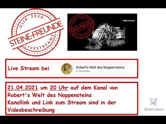 Ankündigung: Zu Gast im Live Stream auf dem Kanal Robert's Welt des Noppensteins