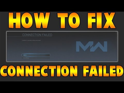 HOW TO FIX Connection Failed