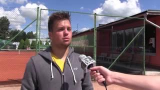 Dominik Starý po prohře ve finále kvalifikace na turnaji Futures v Ústí n. O.