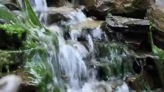 Исскуственный ручей на турбазе