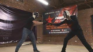 Идеальный ножевой бой. 5:0 за 50 секунд. 100% результативных атак.
