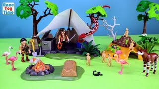 Playmobil Treasure Hunters Camp Giant Snake Playset Build and Play with Safari Animals Toys For Kids